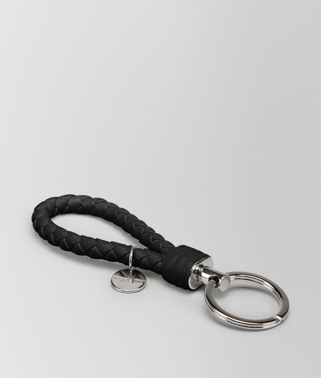 BOTTEGA VENETA NERO INTRECCIATO NAPPA KEY RING Keyring or Bracelets E fp