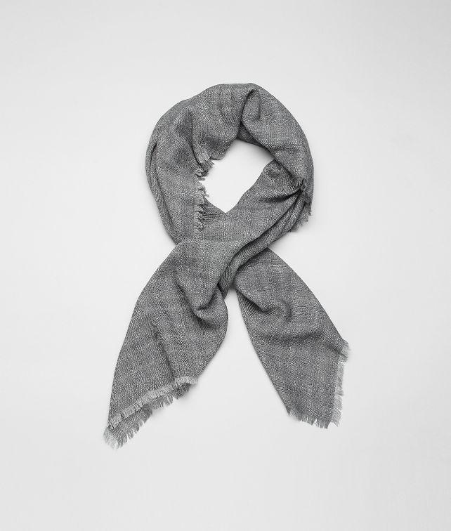 BOTTEGA VENETA Écharpe Reseda Dark Grey en laine et soie écharpe ou gant ou chapeau U fp
