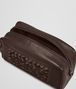 BOTTEGA VENETA Edoardo Ebano Light Calf Soft Crocodile Fume Toiletry Case Small bag U ap