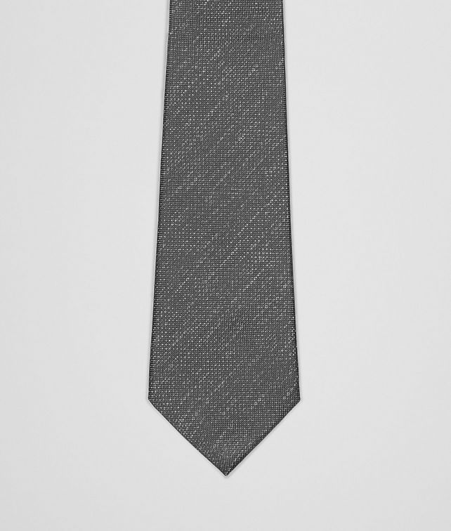 BOTTEGA VENETA Flannel Dark Grey Silk Tie Tie U fp