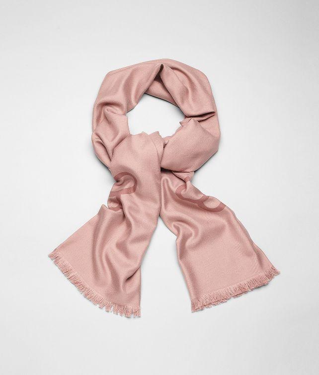 BOTTEGA VENETA Schal aus Jacquard-Seide Mauve Pink Schal oder Hut oder Handschuhe E fp