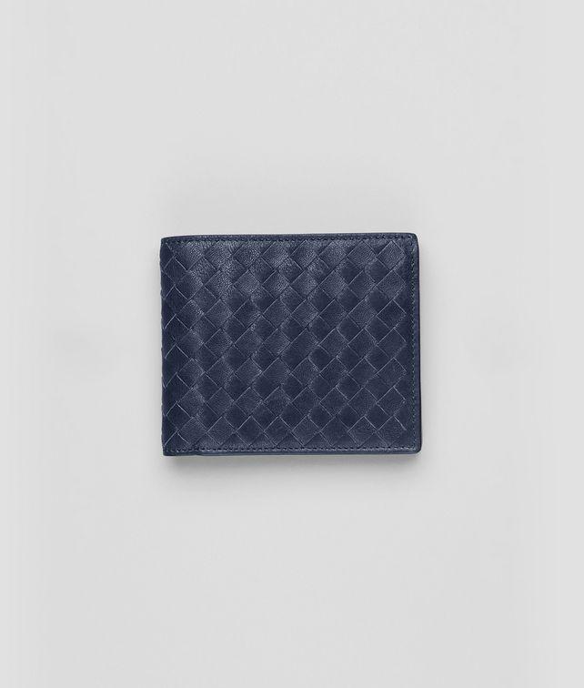 BOTTEGA VENETA Prusse Intrecciato Washed Lambskin Wallet Bi-fold Wallet U fp