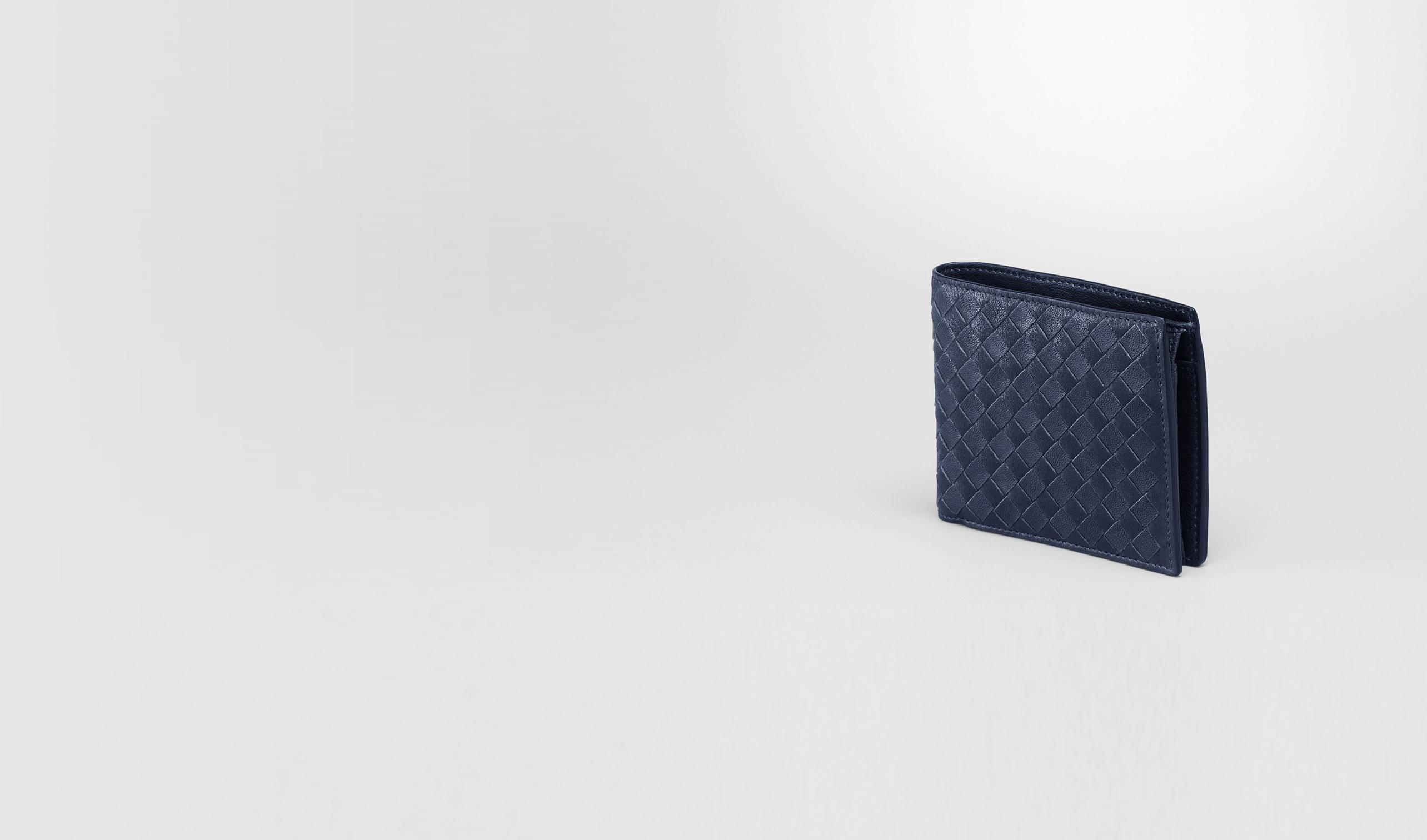 BOTTEGA VENETA Bi-fold Wallet U Prusse Intrecciato Washed Lambskin Wallet pl