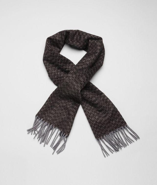 BOTTEGA VENETA Écharpe Black Dark Grey en Cashmere écharpe ou gant ou chapeau U fp