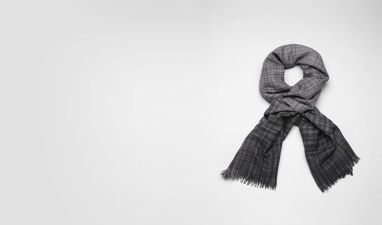 BOTTEGA VENETA Scarf or Hat or Glove U Anthracite Black Wool Scarf pl