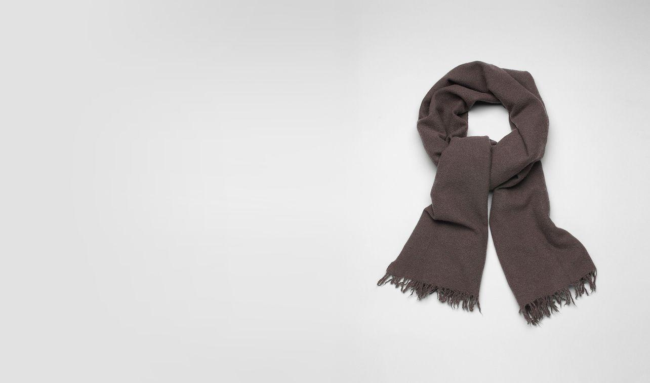 BOTTEGA VENETA Scarf or Hat or Glove U Brown Cashmere Silk Scarf pl