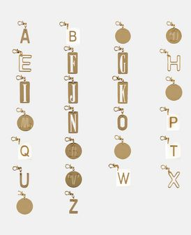 Alphabet Charm Key ring
