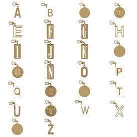 STELLA McCARTNEY Jewelry D Alphabet Charm Key ring f