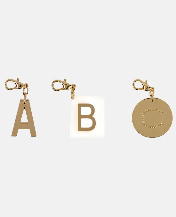 STELLA McCARTNEY Schlüsselring mit Buchstaben-Anhänger Schmuck D h