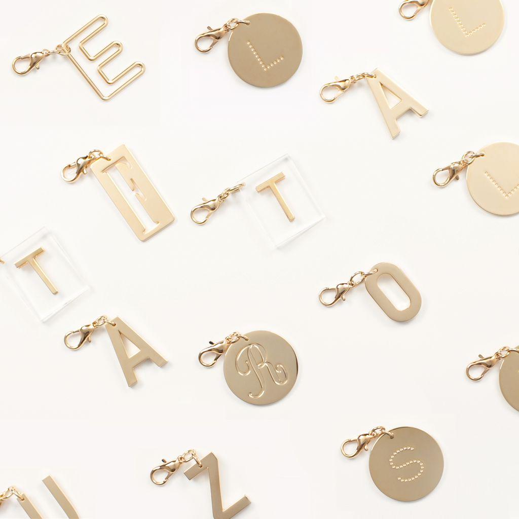 Schlüsselring mit Buchstaben-Anhänger - STELLA MCCARTNEY
