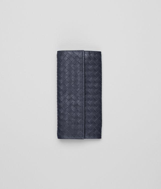 BOTTEGA VENETA Prusse Intrecciato Washed Lambskin Continental Wallet Continental Wallet D fp