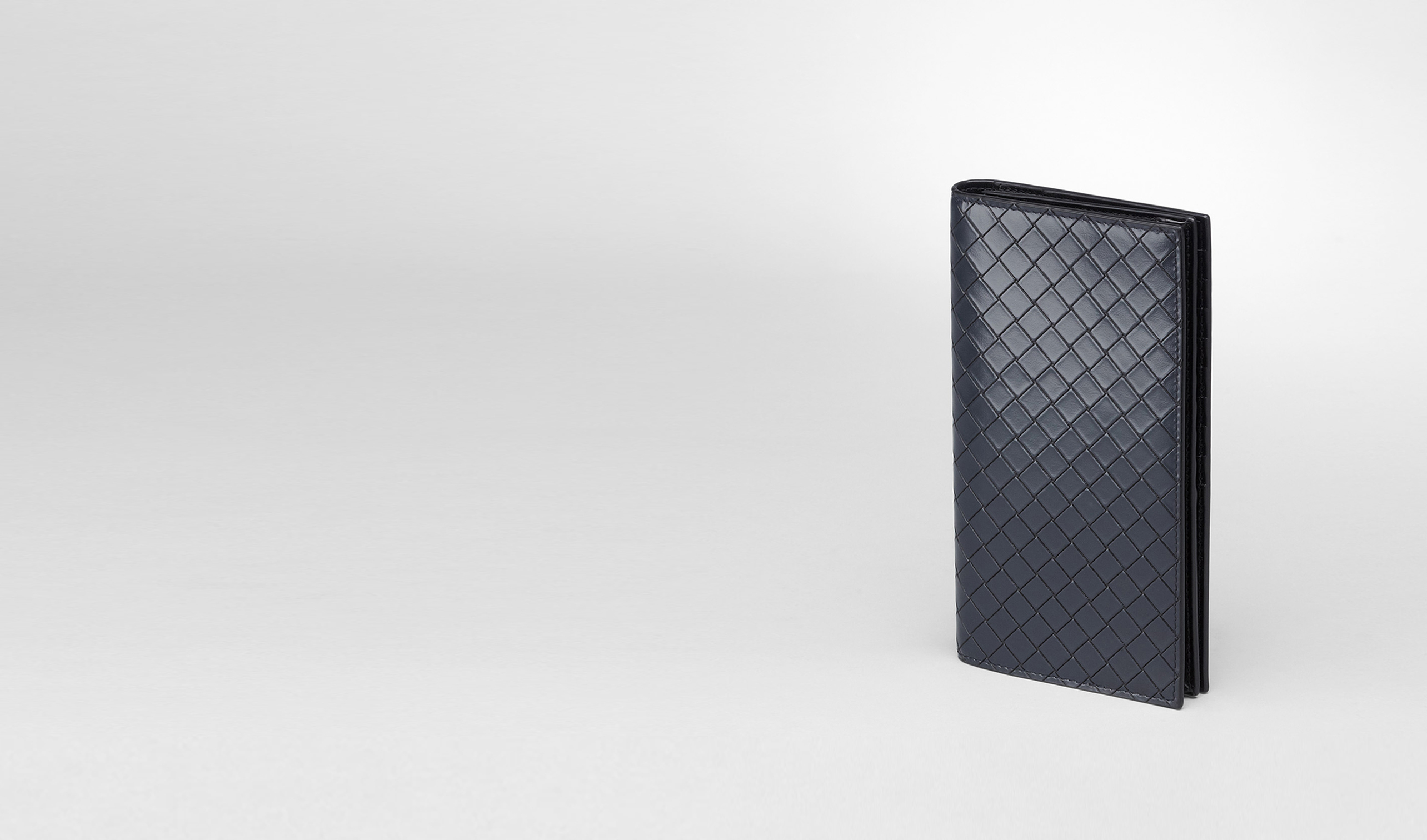 BOTTEGA VENETA Continental Wallet U Prusse Nero Intreccio Scolpito Spazzolato Continental Wallet pl
