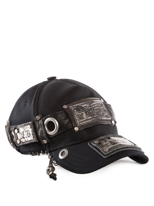 DIESEL REBOOT-BLACK-BIKER-C Caps, Hats & Gloves U f