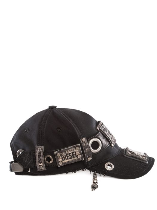 DIESEL REBOOT-BLACK-BIKER-C Caps, Hats & Gloves U e