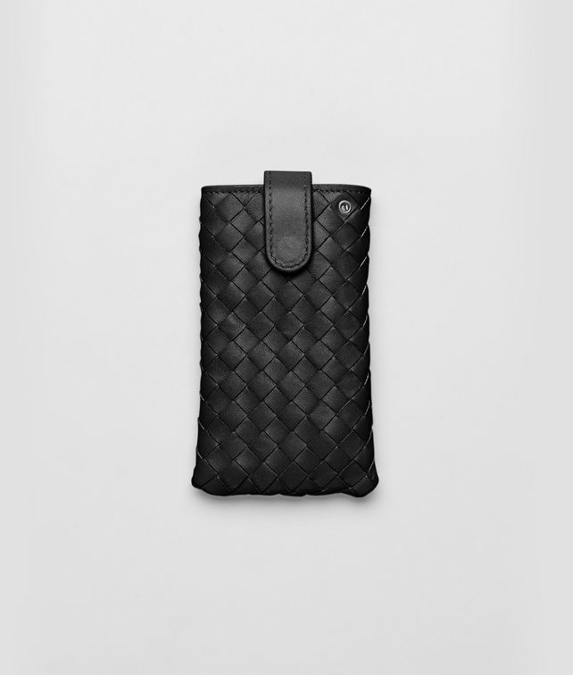 BOTTEGA VENETA IPHONE CASE IN NERO INTRECCIATO NAPPA Other Leather Accessory E fp
