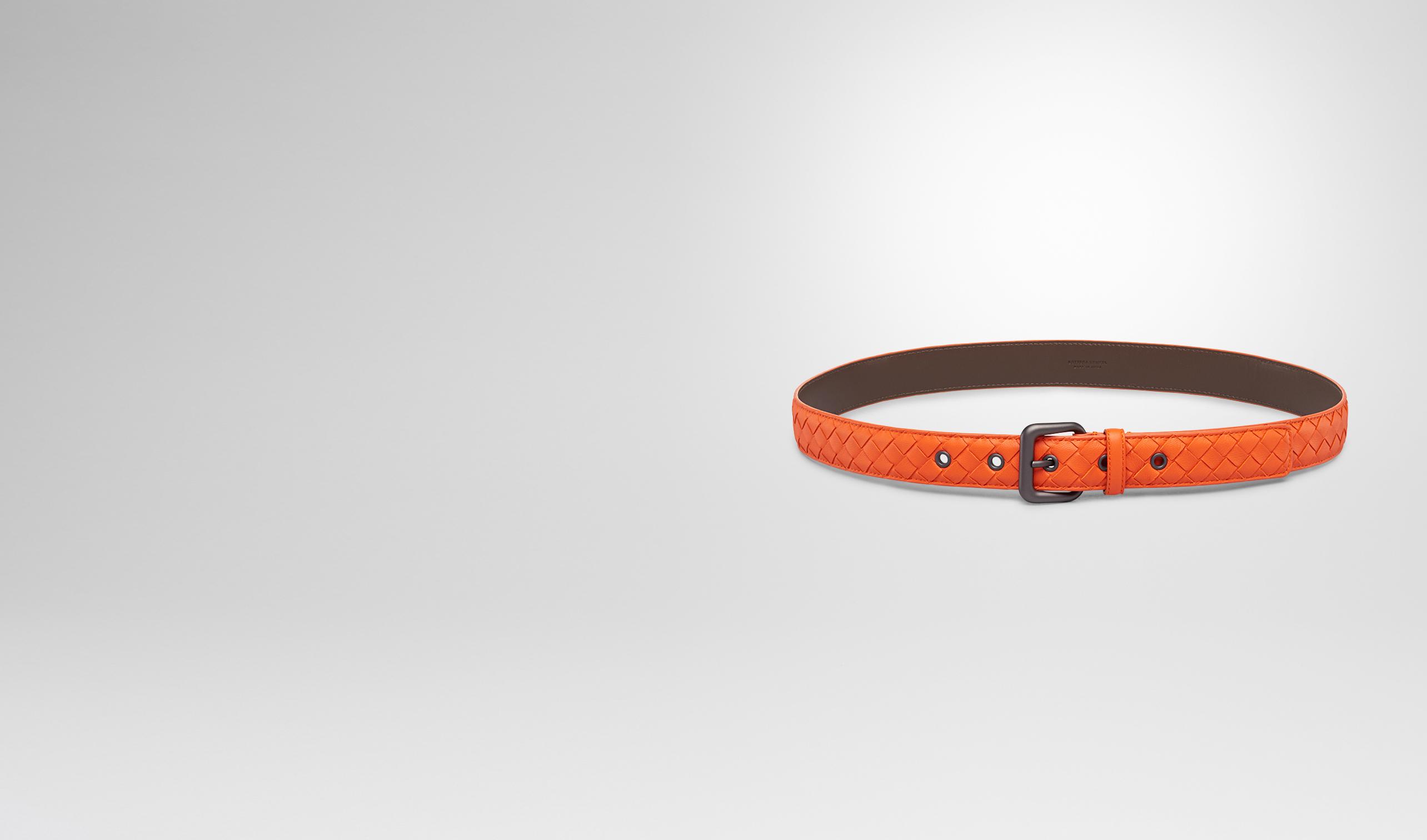 BOTTEGA VENETA Belt D Tangerine Intrecciato Nappa Belt pl