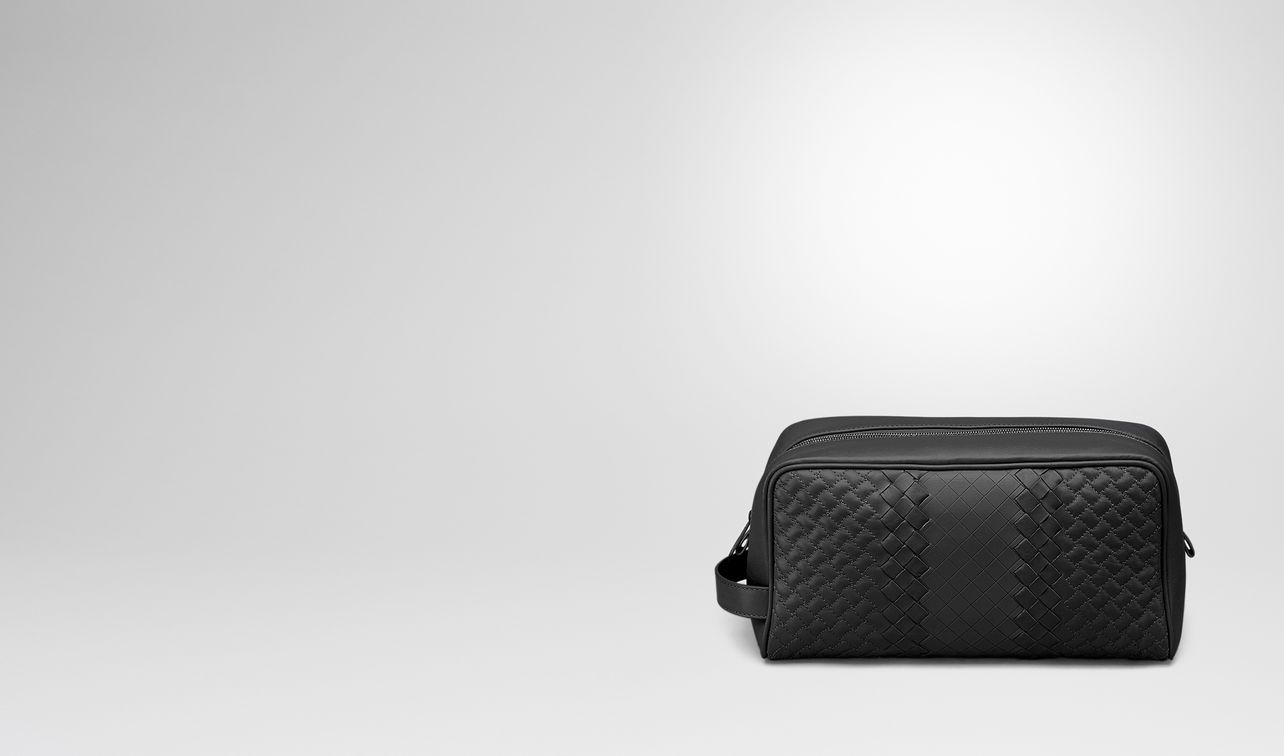 toiletry case in nero intreccio imperatore landing