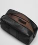 BOTTEGA VENETA TOILETRY CASE IN NERO INTRECCIO IMPERATORE Small bag U ap