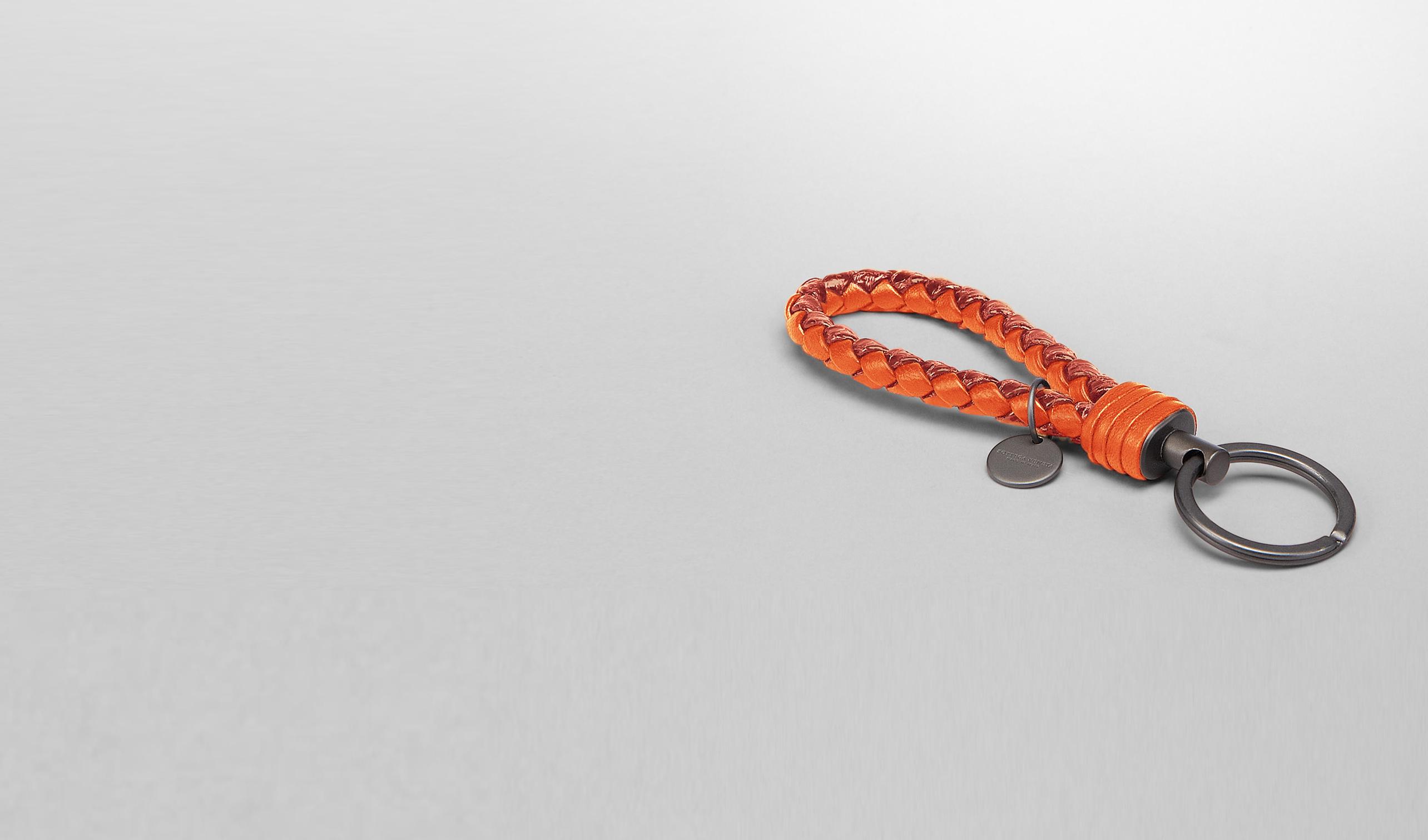 BOTTEGA VENETA Keyring or Bracelets E Tangerine Intrecciato Ayers Livrea Key Ring pl