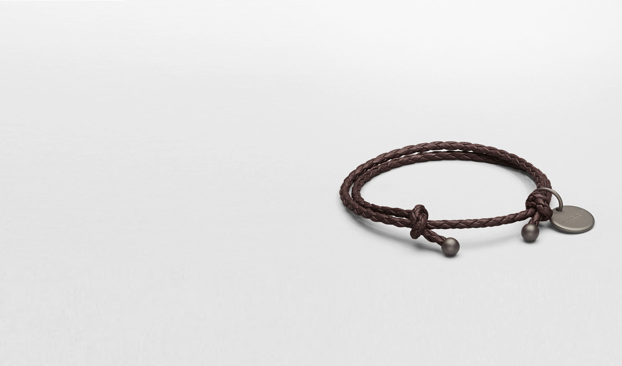 BOTTEGA VENETA Other Leather Accessory E Ebano Intrecciato Nappa Bracelet pl