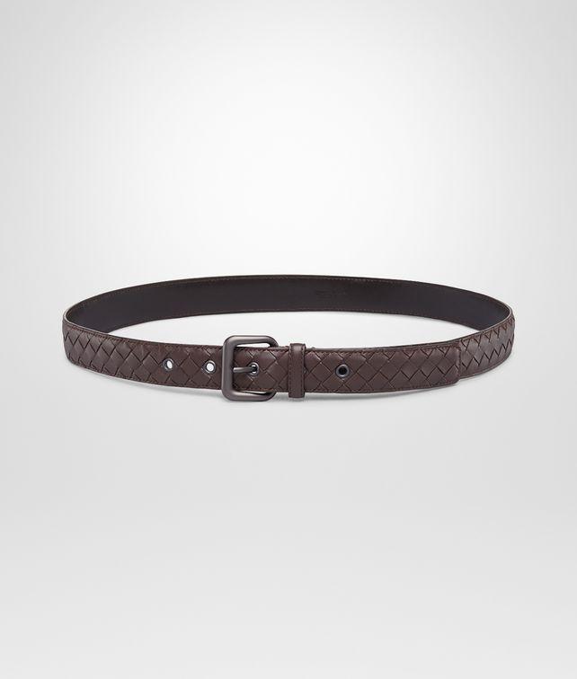 BOTTEGA VENETA Cintura Ebano in Nappa Intrecciata Cintura D fp