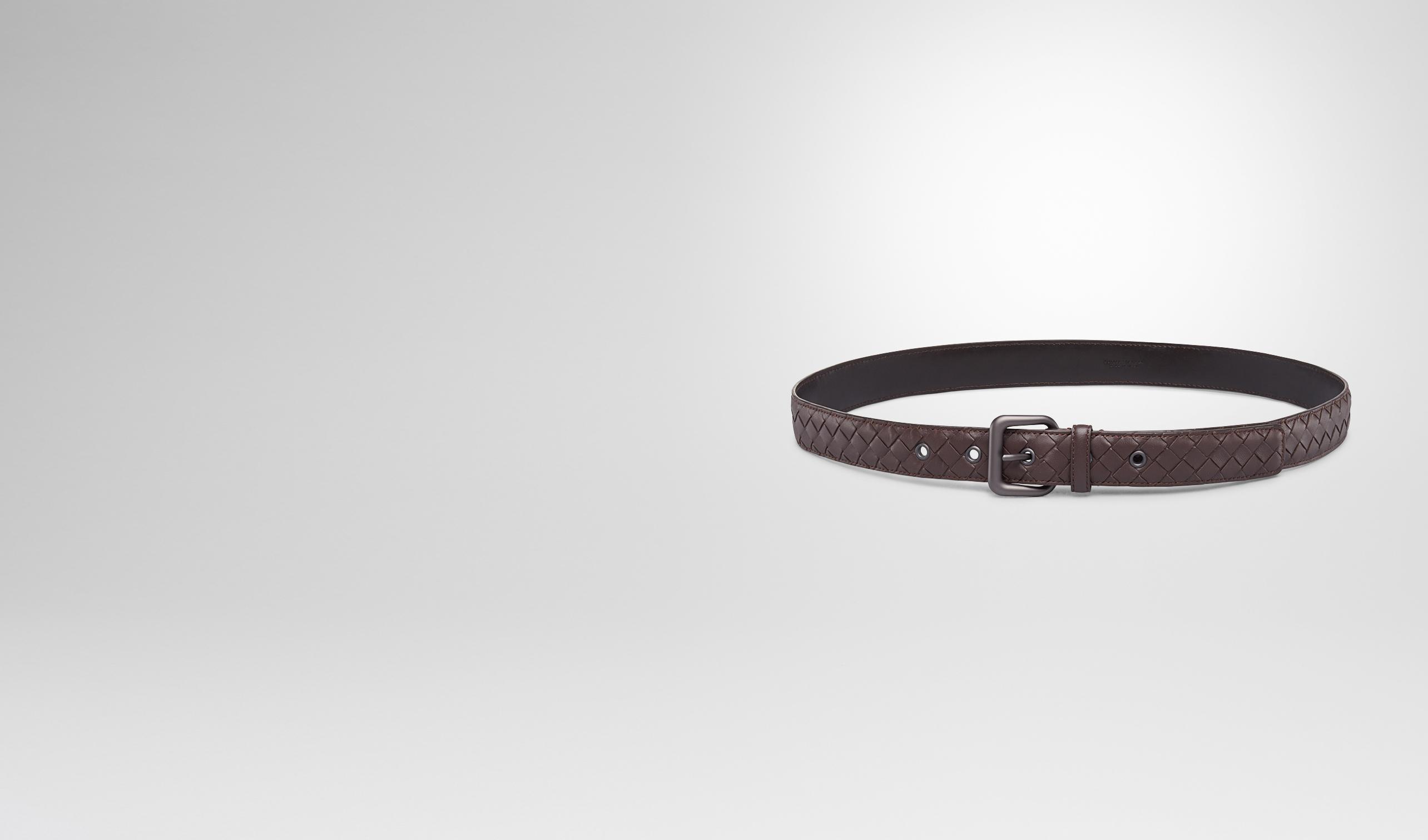BOTTEGA VENETA Cintura D Cintura Ebano in Nappa Intrecciata pl