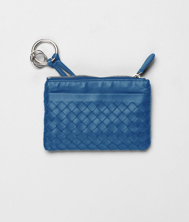 BOTTEGA VENETA Électrique Intrecciato Nappa Key Case Keyring or Bracelets E fp