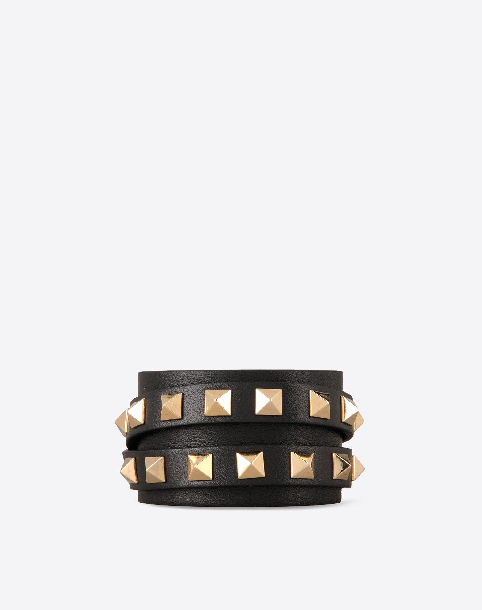 VALENTINO Solid color Leather lining Clasp closure Metallic inserts  46330371um