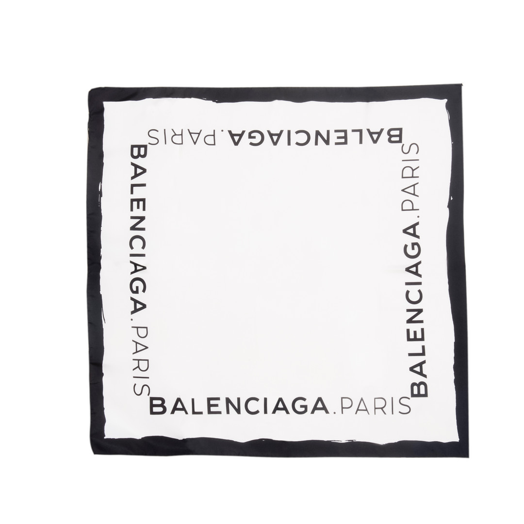 Balenciaga Logo Twill Scarf