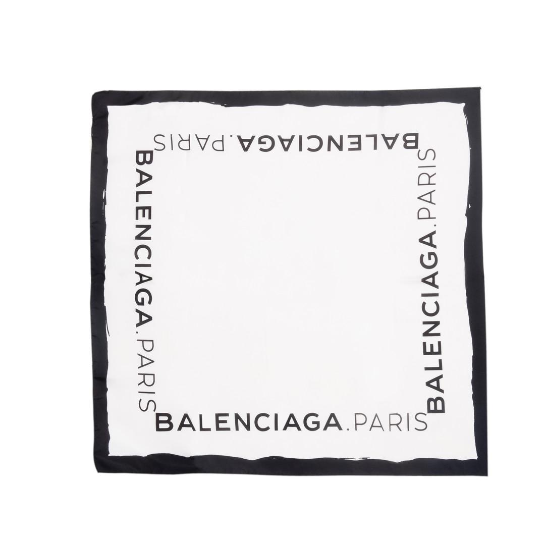 BALENCIAGA Balenciaga Twill-Foulard mit Logo Schals & Tücher D f