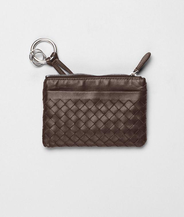 BOTTEGA VENETA Ebano Intrecciato Nappa Key Case Keyring or Bracelets E fp