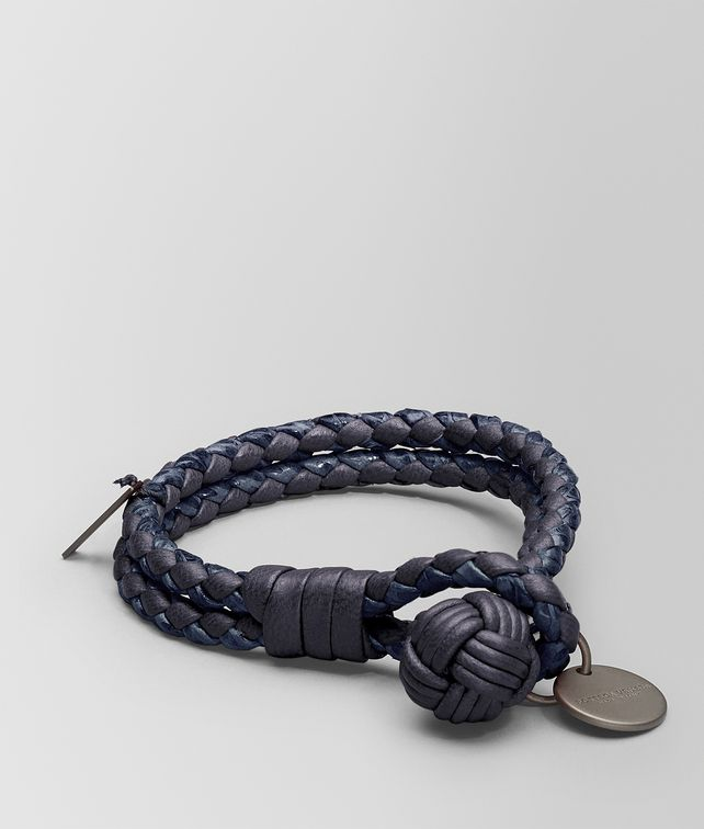 BOTTEGA VENETA BRACELET IN TOURMALINE INTRECCIATO NAPPA AND AYERS Keyring or Bracelets D fp