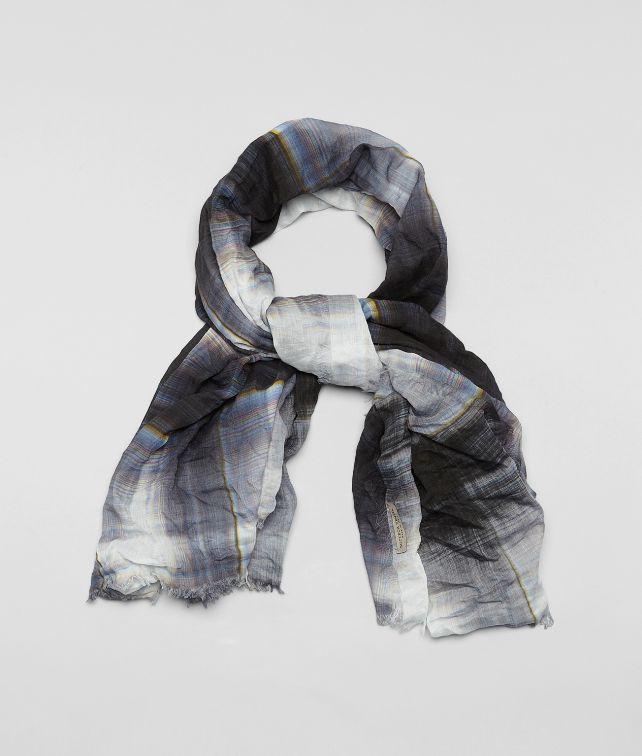 BOTTEGA VENETA SCHAL AUS BAUMWOLLE UND SEIDE WHITE BLUE Schal oder Hut oder Handschuhe U fp