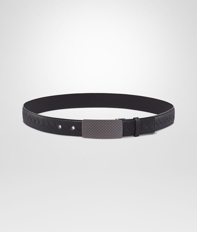 BOTTEGA VENETA Nero Buffalo Leather Metal Belt Belt U fp