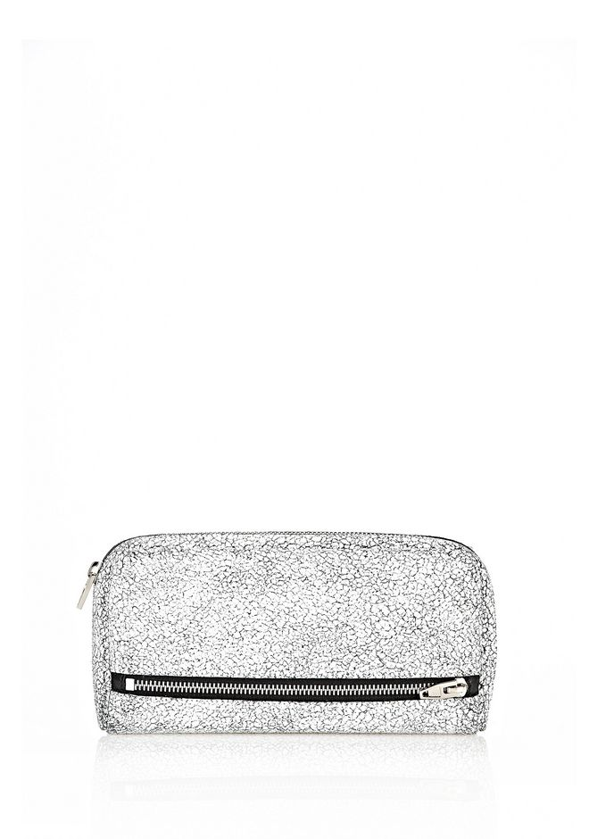 ALEXANDER WANG FUMO CONTINENTAL IN MATTE CRACKED PEROXIDE WITH RHODIUM Wallets Adult 12_n_f
