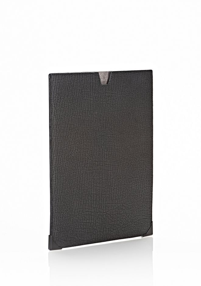 ALEXANDER WANG EXCLUSIVE PRISMA SKELETAL IPAD SLEEVE IN EMBOSSED BLACK WITH MATTE BLACK TECH Adult 12_n_r