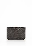 ALEXANDER WANG PRISMA SKELETAL BIKER PURSE IN HEAVY CRACKED BLACK WITH RHODIUM Wallets Adult 8_n_f