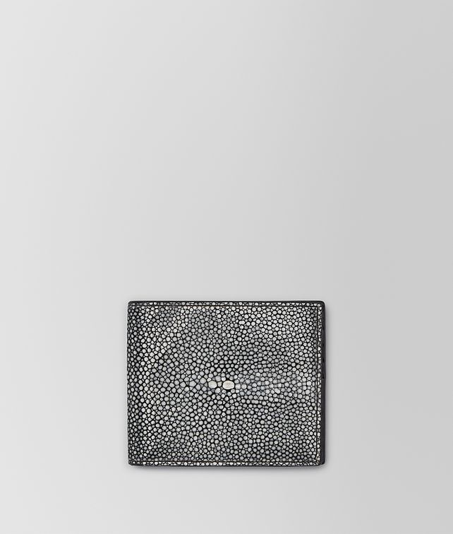 BOTTEGA VENETA BI-FOLD WALLET IN NERO STINGRAY Bi-fold Wallet U fp