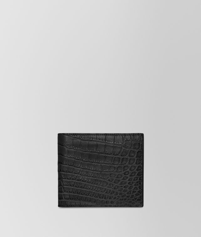 BOTTEGA VENETA WALLET IN NERO CROCODILE Bi-fold Wallet U fp