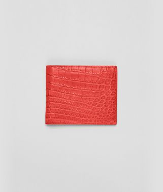 BI-FOLD WALLET IN NEW RED CROCODILE