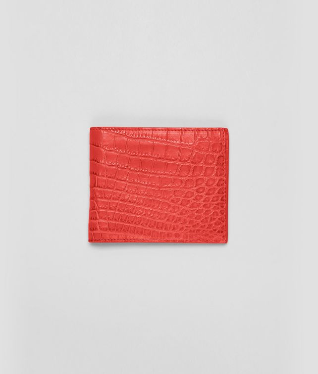 BOTTEGA VENETA BI-FOLD WALLET IN NEW RED CROCODILE Bi-fold Wallet U fp