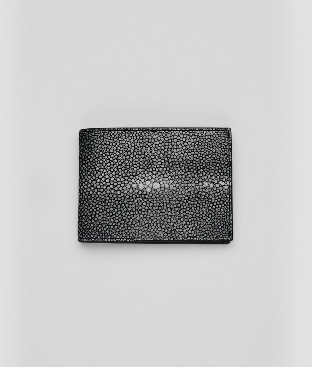 BOTTEGA VENETA Nero Soft Stingray Wallet Bi-fold Wallet U fp