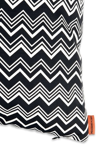MISSONI HOME TOBAGO CUSHION Black E - Front