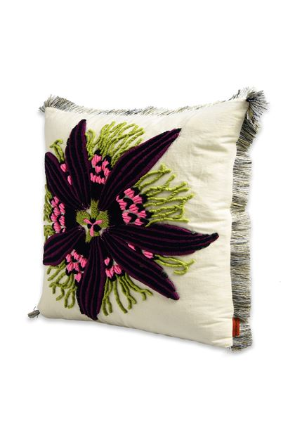 MISSONI HOME PASSION_FLOWER CUSHION Ivory E - Back