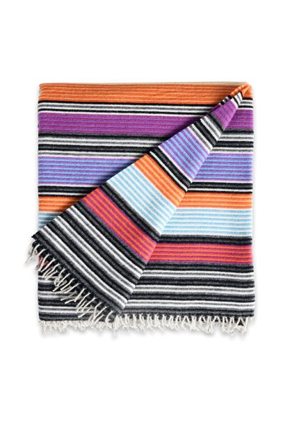 MISSONI HOME ERODE THROW Sky blue E - Back