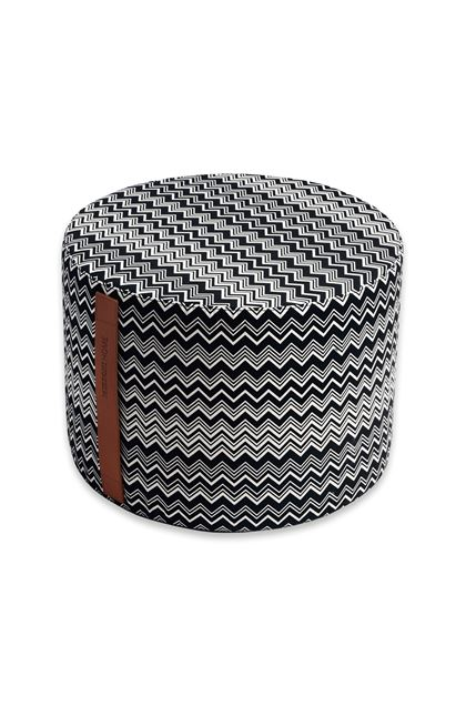 MISSONI HOME TOBAGO CYLINDER POUF Black E - Back