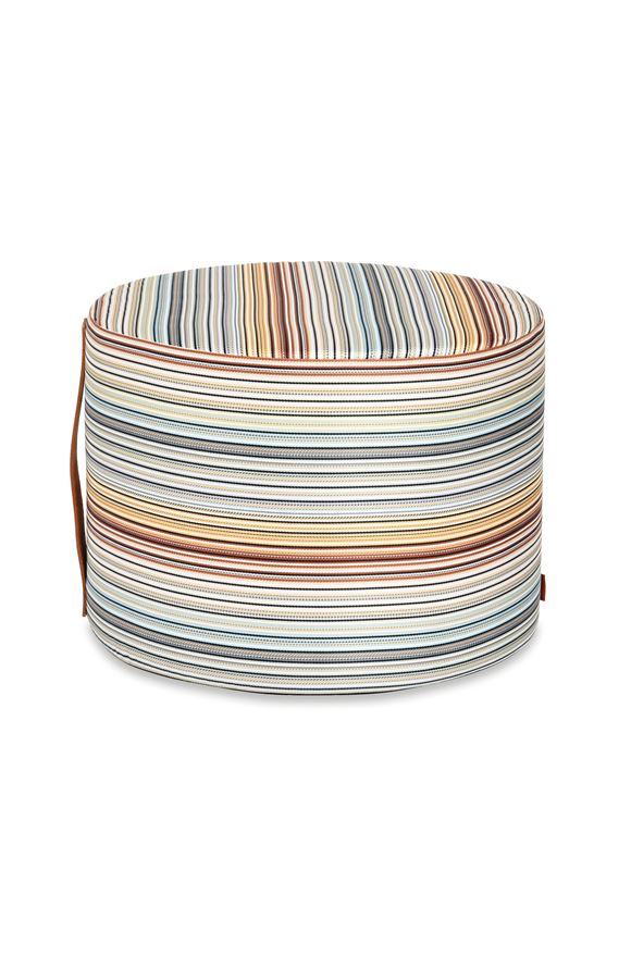 MISSONI HOME JENKINS CYLINDER POUF E, Frontal view