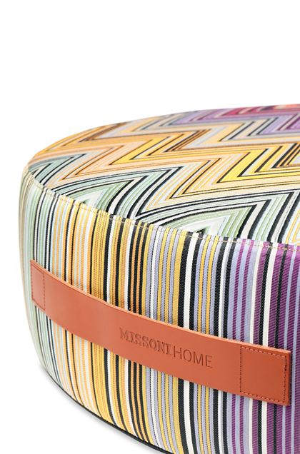 MISSONI HOME KEW_PW FLOOR POUF Purple E - Front