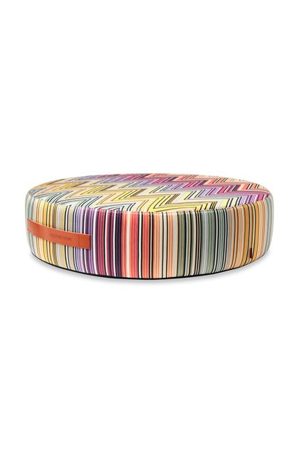 MISSONI HOME KEW_PW FLOOR POUF Purple E - Back