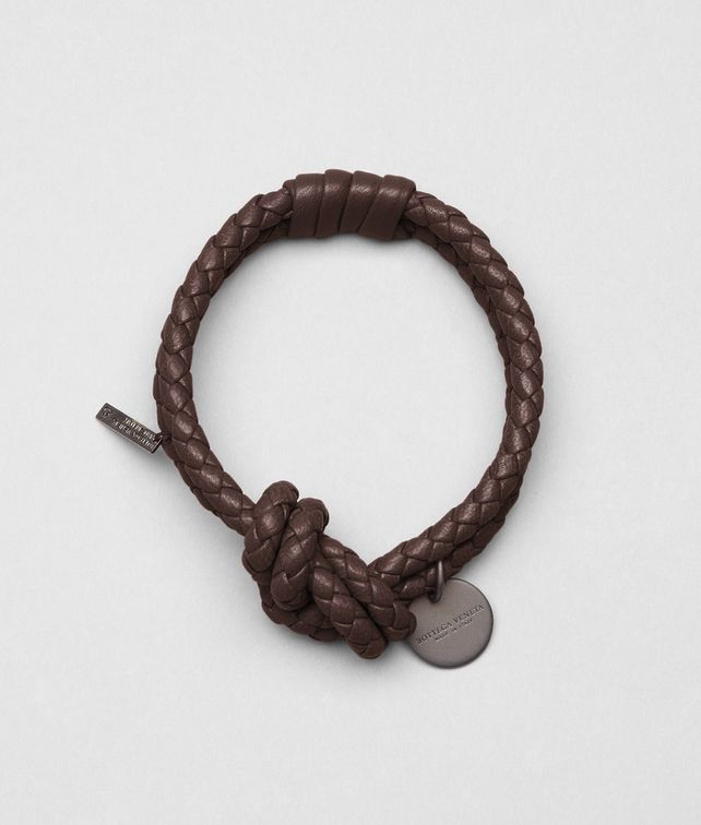 BOTTEGA VENETA Ebano Intrecciato Nappa Bracelet Other Leather Accessory E fp